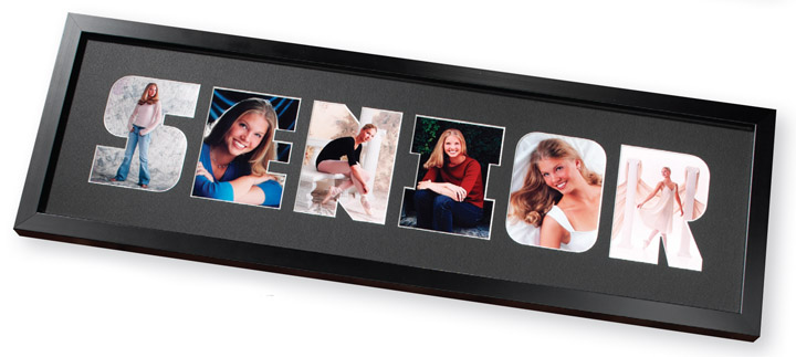 Tap Senior Picture Frame Black Wooden Graduation 4x5 Or 2